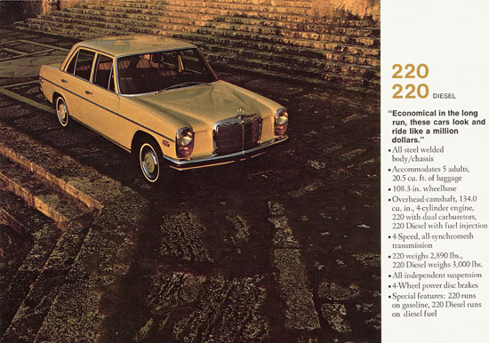 Brochure Mercedes Benz of North America 1967
