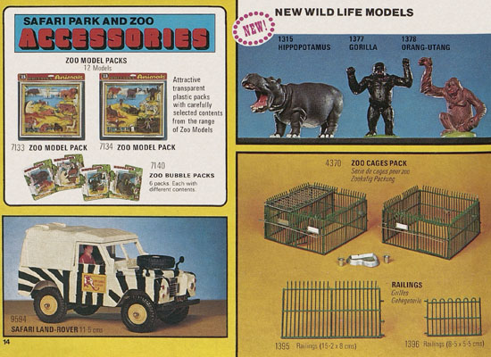 Britains Miniature world of life-like models catalog 1978