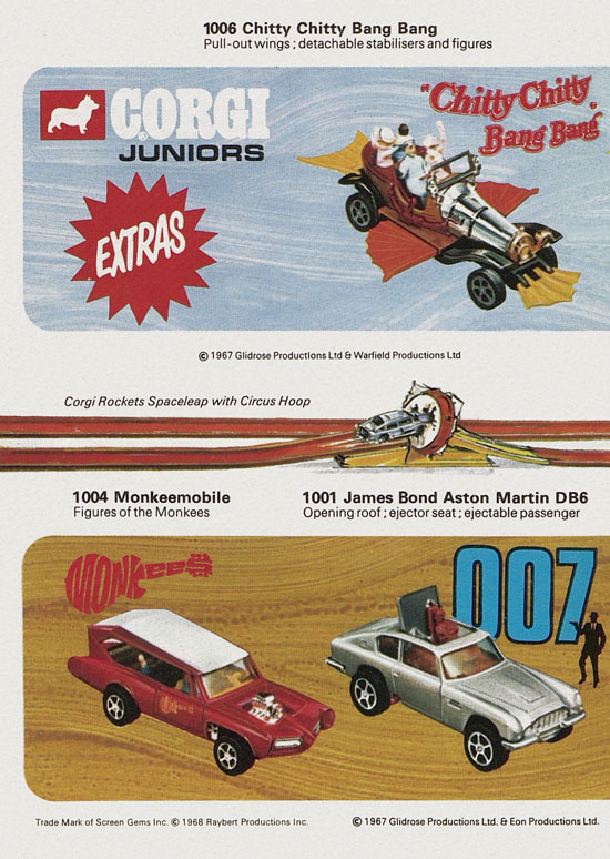 Corgi Juniors with Whizzwheels catalogue 1970