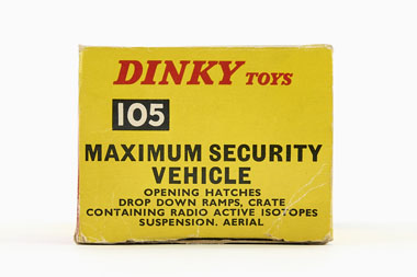 Dinky Toys 105 Maximum Security Vehicle OVP
