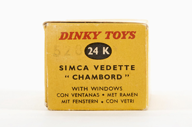 Dinky Toys 24 K Simca Vedette Chambord OVP