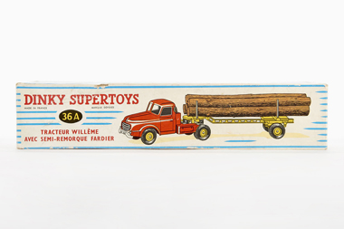 Dinky Toys 36 A Willème tractor and lumber carrier OVP