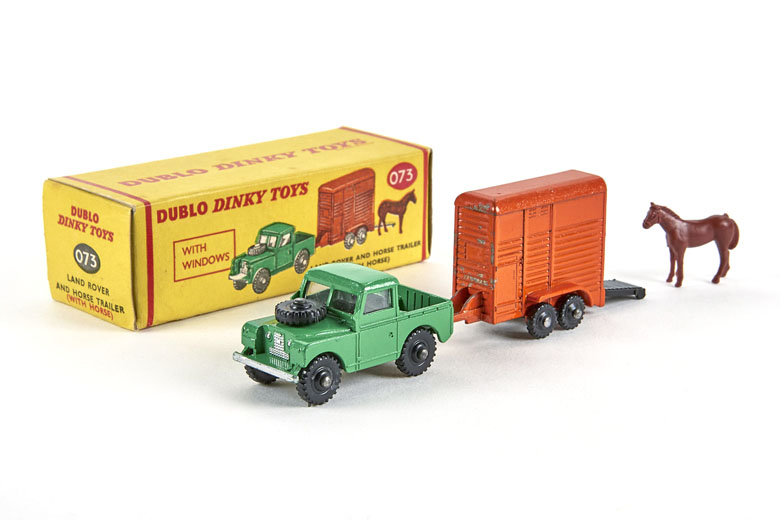 Dinky Toys 73 Land Rover and Horse Trailer