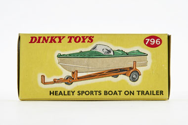 Dinky Toys 796 Healey Sports Boat on trailer OVP