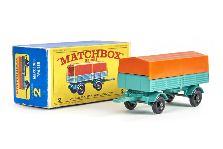 Matchbox 2 Mercedes Trailer