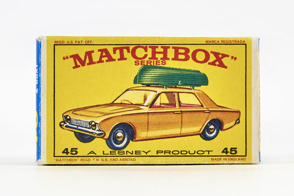 Matchbox 45 Ford Corsair with Boat OVP