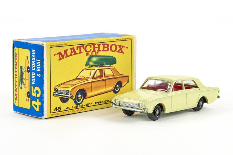 Matchbox 45 Ford Corsair with Boat